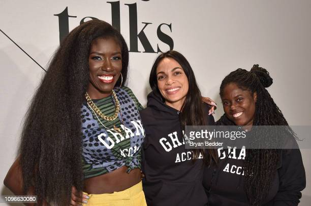 CMO of William Morris Endeavor Bozoma Saint John and Cofounders of Studio 189 Rosario Dawson and Abrima Erwiah participate in The Talks Fashion as an...
