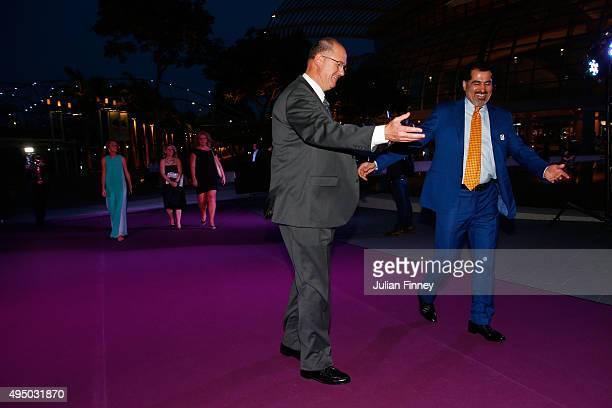 CEO of WTA Steve Simon and Dubai Duty Free Tennis Tournament director Salah Tahla attend Singapore Tennis Evening during BNP Paribas WTA Finals at...