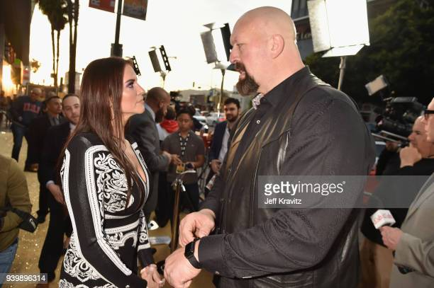 CBO of WWE Stephanie McMahon and Big Show attend the Los Angeles Premiere of Andre The Giant from HBO Documentaries on March 29 2018 in Los Angeles...