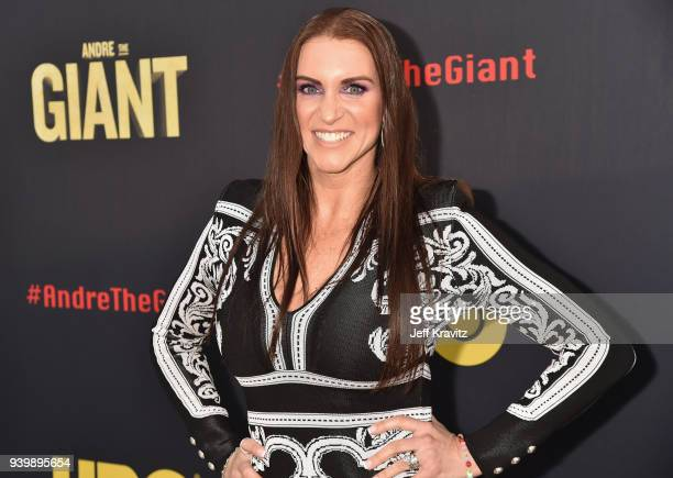 CBO of WWE Stephanie McMahon attends the Los Angeles Premiere of Andre The Giant from HBO Documentaries on March 29 2018 in Los Angeles California