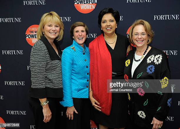 Of Yahoo Carol Bartz, CEO of Kraft Irene Rosenfeld, Chairman and CEO of Pepsi Co. Indra Nooyi and Chairman of Time, Inc, Ann Moore attend the Fortune...