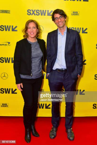 CEO of YouTube Susan Wojcicki and Nicholas Thompson attend Navigating the Video Revolution in the Digital Age during SXSW on March 13 2018 in Austin...