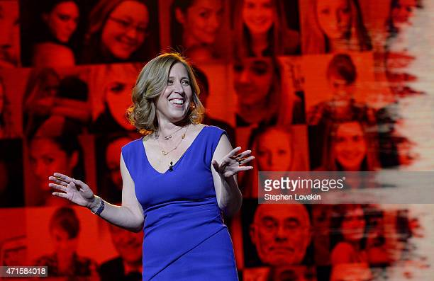 Of Youtube Susan Wojcicki speaks at YouTube #Brandcast presented by Google at The Theater at Madison Square Garden on April 29, 2015 in New York City.