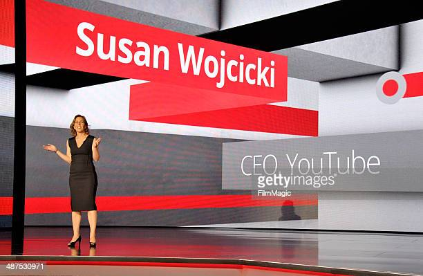 CEO of YouTube Susan Wojcicki speaks on stage at Google presents YouTube Brandcast event at The Theater at Madison Square Garden on April 30 2014 in...