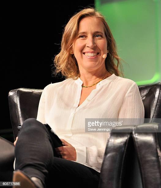 Of YouTube Susan Wojcicki speaks onstage during TechCrunch Disrupt SF 2016 at Pier 48 on September 14, 2016 in San Francisco, California.