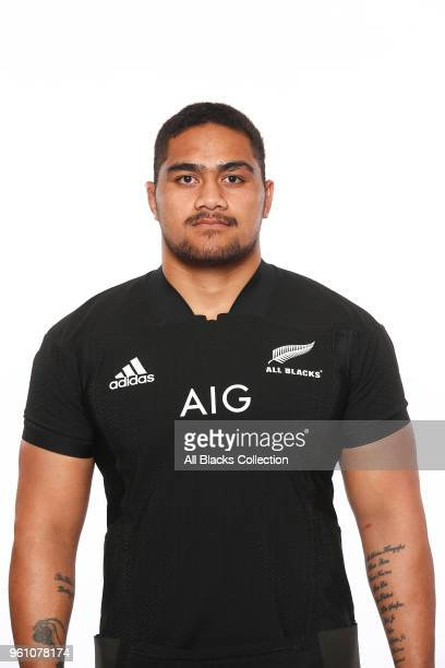 Ofa TuÕungafasi poses during a New Zealand All Blacks headshots session on May 21 2018 in Auckland New Zealand