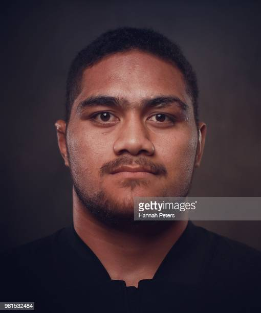 Ofa Tuungafasi poses during a New Zealand All Blacks portraits session on May 21 2018 in Auckland New Zealand