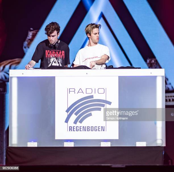 Ofenbach performs during the Radio Regenbogen 30th Anniversary Celebration at SAP Arena Mannheim on April 21 2018 in Mannheim Germany