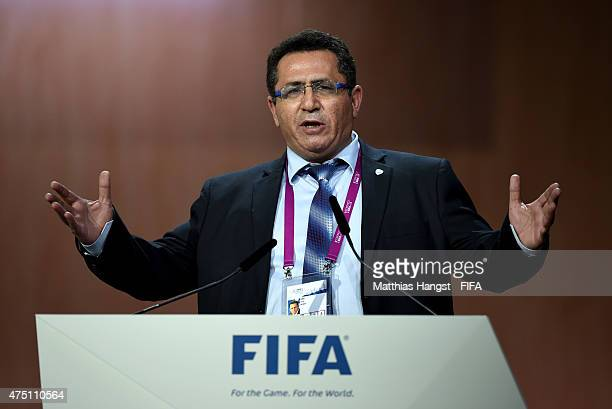 Ofer Eini President of the Israel Football Association talks during the 65th FIFA Congress at the Hallenstadion on May 29 2015 in Zurich Switzerland