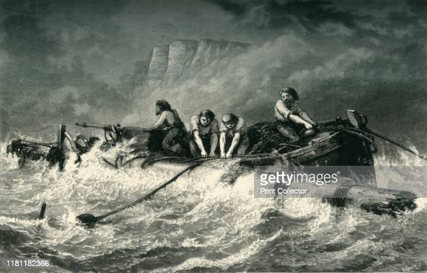 Off Beachy Head' circa 1870 Chalk headland in East Sussex England on the English Channel and a danger to shipping From Picturesque Europe The British...