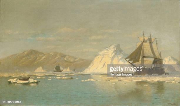 Off Greenland?Whaler Seeking Open Water, . Artist William Bradford.