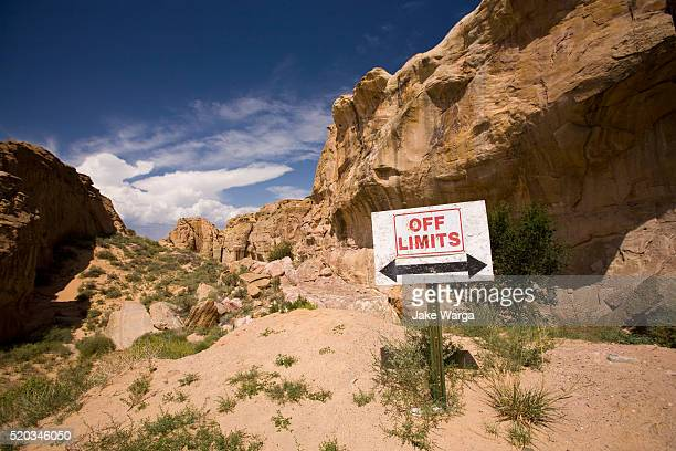 Off limits sign, New Mexico