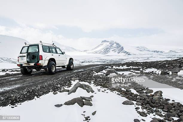 Off road vehicle on Langjokull Glacier, Iceland
