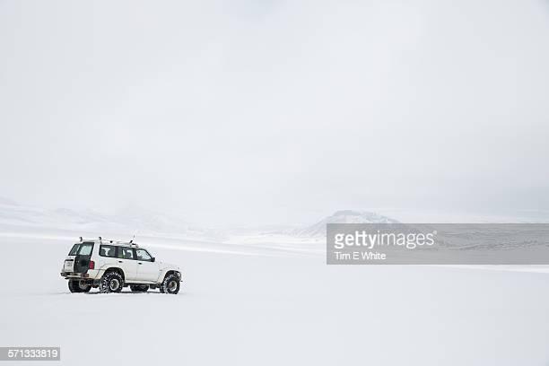Off road vehicle on Langjokull Glacier, Iceland