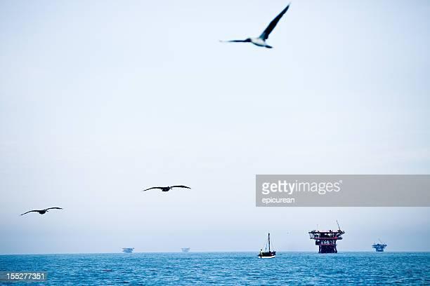 Huile de plate-formes de la côte de la pollution de l'air