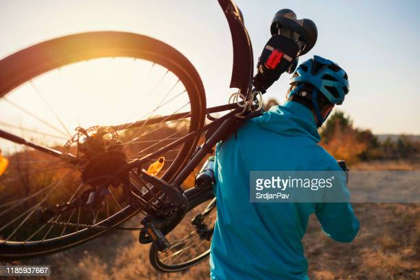 off the beaten path - mountain biking stock pictures, royalty-free photos & images