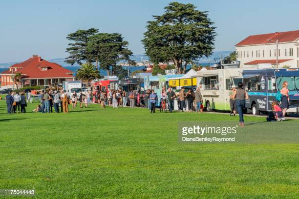 off the grid presidio picnic in san francisco - simple living stock pictures, royalty-free photos & images