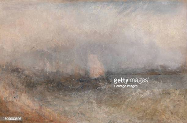Off the Nore;Squally Weather, between 1840 and 1845. Thames estuary and the North sea. Artist JMW Turner. .