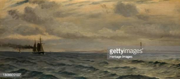 Off The Skagerrak, 1884. Whitworth Wallis was the first director of Birmingham Museum & Art Gallery. The Skagerrak is a strait between Norway,...