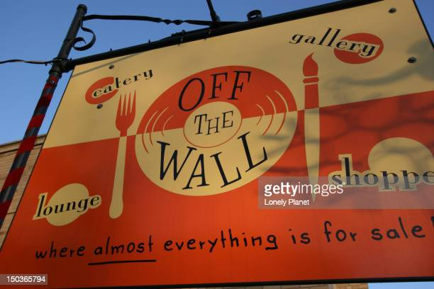 Off the Wall gallery and restaurant on Elmwood Avenue.