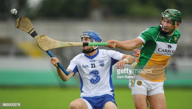 Offaly Ireland 1 July 2017 Colin Dunford of Waterford in action against David King of Offaly during the GAA Hurling AllIreland Senior Championship...