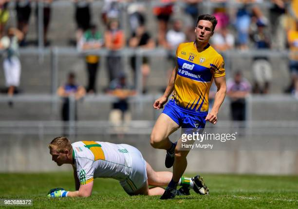 Offaly Ireland 24 June 2018 Jamie Malone of Clare celebrates scoring his side's first goal during the GAA Football AllIreland Senior Championship...