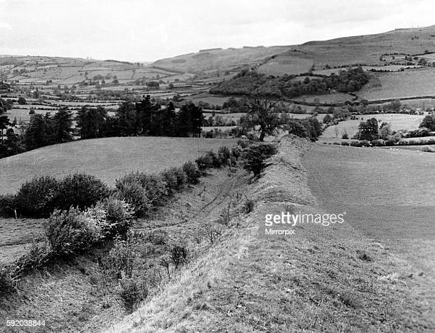 Offa's Dyke is a large linear earthwork that roughly follows the current border between England and Wales. Looking northwards from Pen Offa the Dyke...