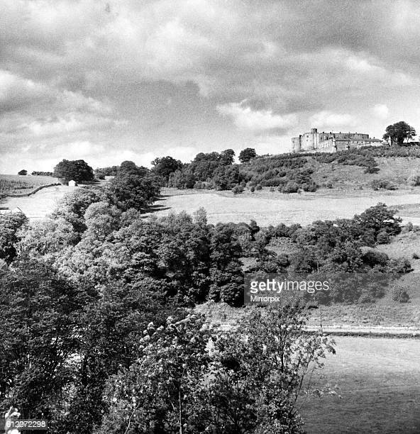 Offa's Dyke is a large linear earthwork that roughly follows the current border between England and Wales. 5th September 1956.