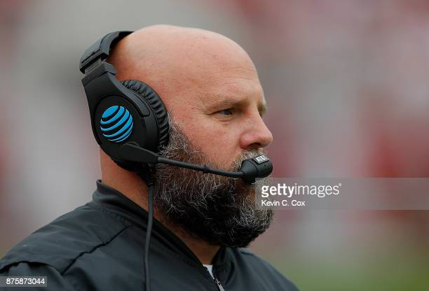 Offensive coordinator Brian Daboll of the Alabama Crimson Tide looks on during the game against the Mercer Bears at Bryant-Denny Stadium on November...