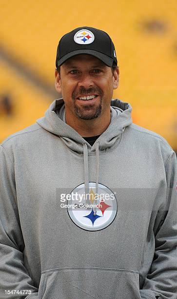 Offensive coordinator Todd Haley of the Pittsburgh Steelers looks on from the sideline before a game against the Philadelphia Eagles at Heinz Field...