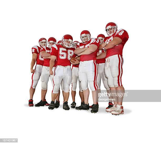 linha de ofensiva com traçado de recorte - american football sport imagens e fotografias de stock