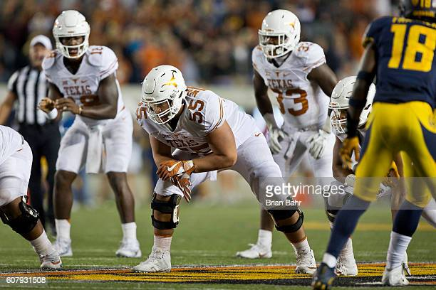 Offensive Lineman Connor Williams Of The Texas Longhorns Waits For Snap Against California Golden