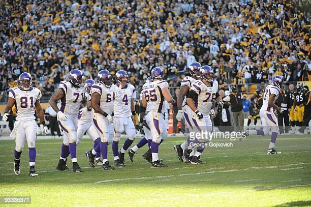 Offensive linemen Phil Loadholt Anthony Herrera John Sullivan Steve Hutchinson and Bryant McKinnie wide receiver Visanthe Shiancoe and quarterback...