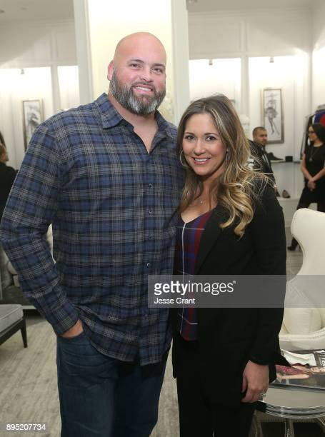 Offensive tackle Andrew Whitworth and Melissa Whitworth attend the LA Rams Wives and Girlfriends Holiday Gifting Event at Westfield Topanga Mall on...