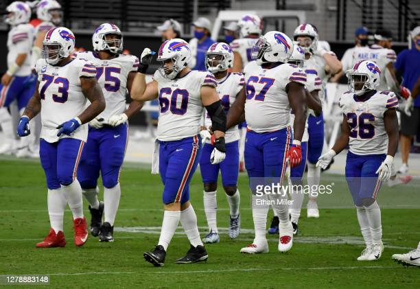 Offensive tackle Dion Dawkins, offensive tackle Daryl Williams, center Mitch Morse, offensive guard Quinton Spain and running back Devin Singletary...