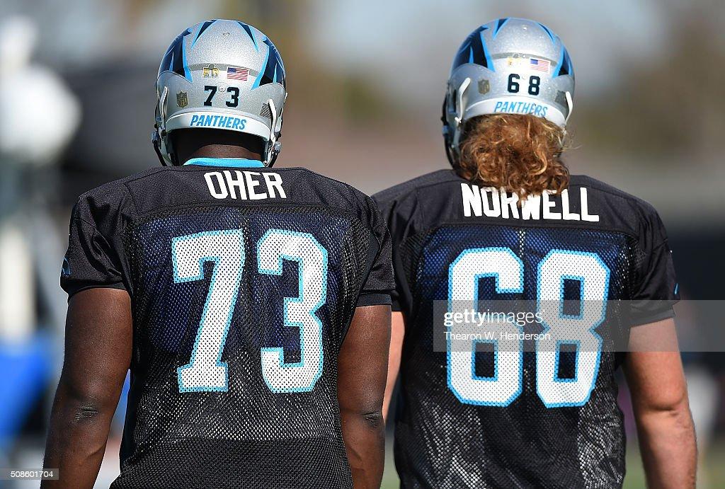Carolina Panthers Practice : News Photo