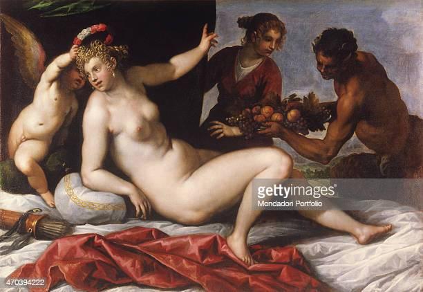 Offer to Venus by Jacopo Negretti known as Palma il Giovane c 1590 16th Century oil on canvas5 x 2035 cm France Paris Pardo Collection Whole artwork...