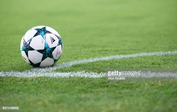 Officail adidas ball during the UEFA Champions League Qualifying PlayOffs round second leg match between Sevilla FC and Istanbul Basaksehir FK at...