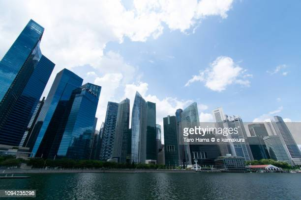 Office and finance buildings in Marina Bay in Singapore