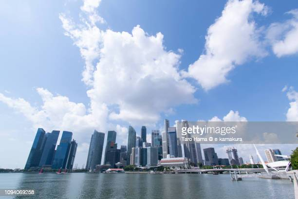 Office and financial buildings in Marina Bay in Singapore