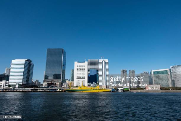 Office and residential buildings in Takeshiba and Hamamatsucho area of Tokyo in Japan