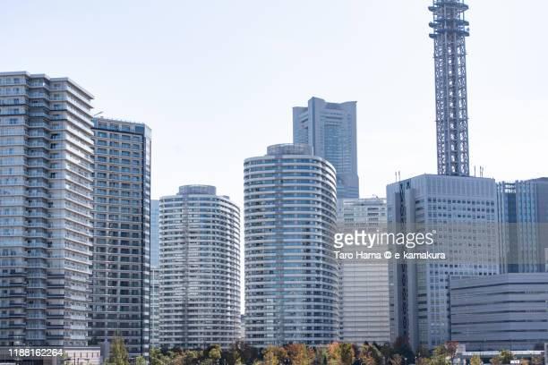 office and residential buildings in yokohama city in kanagawa prefecture of japan - taro hama ストックフォトと画像