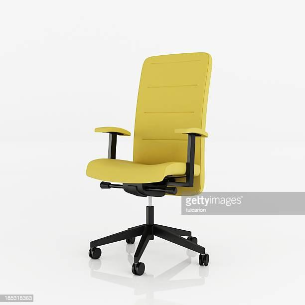ufficio poltrona-clipping path - sedia da ufficio foto e immagini stock