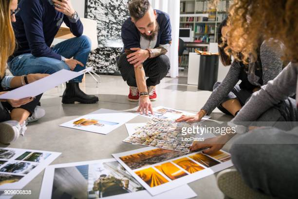 office brainstorming teamwork - design studio stock pictures, royalty-free photos & images