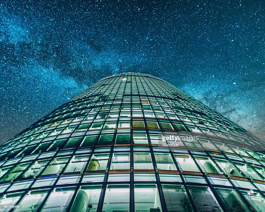 Office building bei Nacht : Stock-Foto