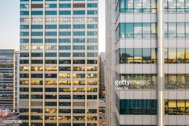 office building facade - liyao xie stock pictures, royalty-free photos & images