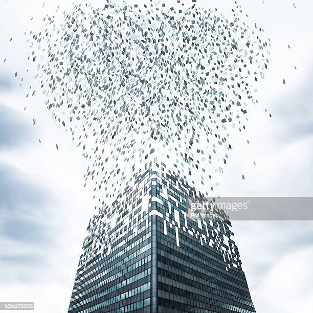 Office Building Flying Apart
