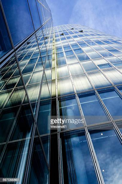 Office building, glas facade, low angle view