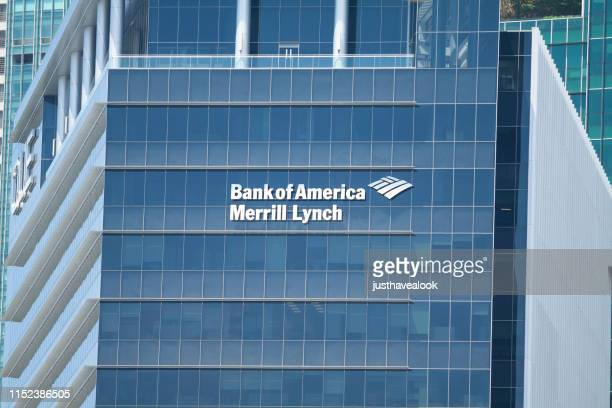 office building of boa in singapore - bank of america stock pictures, royalty-free photos & images