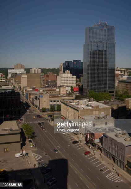 office building over downtown main street - london ontario stock photos and pictures